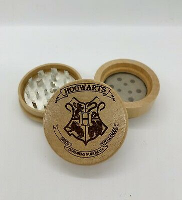 Harry potter hogwarts houses engraved wood kitchen herb grinder Christmas gift
