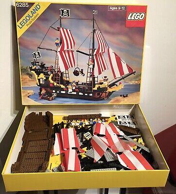 Vintage 1989 LEGO 6285 Pirates Black Seas Barracuda w/ Box 96% Complete