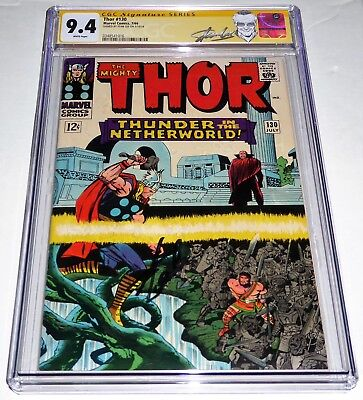 Thor #130 CGC SS 9.4 Signature Autograph STAN LEE Hercules & Pluto Appearance
