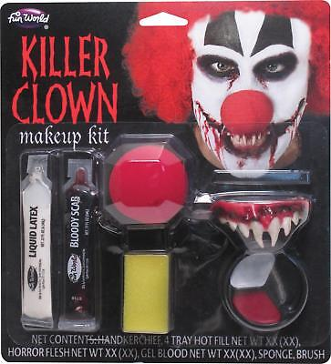 EVIL TWISTED INSANE KILLER CLOWN MAKEUP KIT COSTUME FACE PAINT FW9422KC - Evil Clown Makeup