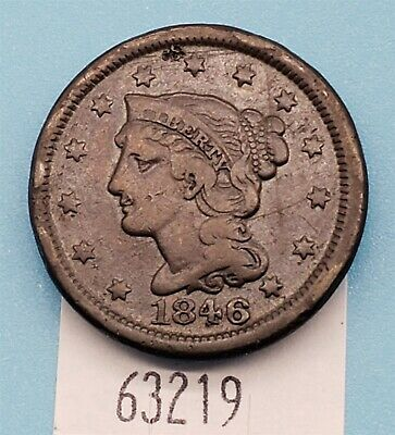 West Point Coins ~ 1846 Large Cent Braided Hair