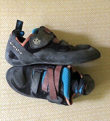 Evolv Climbing Shoes Kornos Multicolored Rock Outdoor Sport Mountain Mens US 12