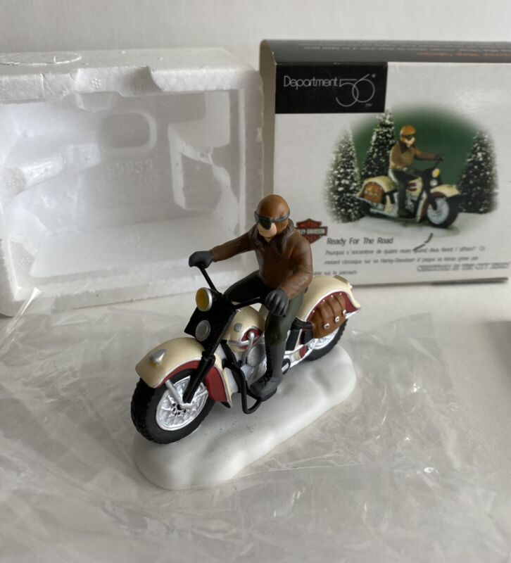 DEPT 56  READY FOR THE ROAD  58907 HARLEY-DAVIDSON ACCESSORY  CIC  MIB
