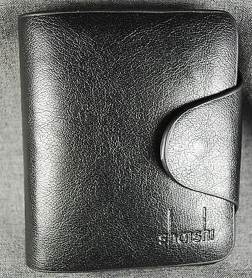 Wallet, men's, Leather wallet black, purse, bill holder, bifold with inserts