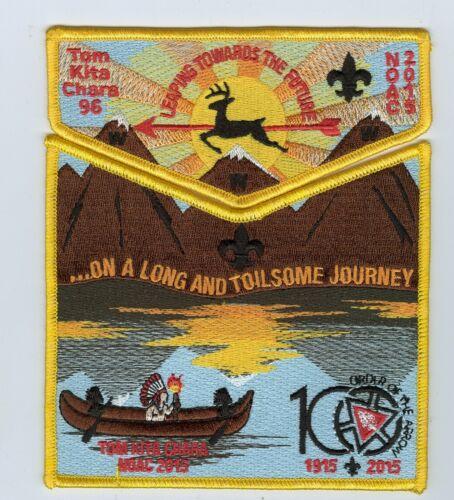 MINT Boy Scout OA Lodge 96  (Tom Kita Chara) 100th OA Anniversary 2-Pc Flap Set
