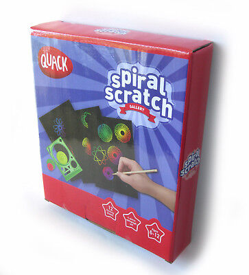 Spiral Scratch Kit 12 etching papers  4 Spirograph & Design Tool Creative Gift