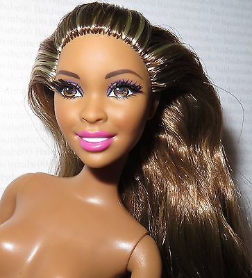 NUDE BARBIE ~ BRUNETTE BLONDE AA ARTICULATED GLAM LUXE DESIREE DOLL FOR OOAK