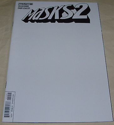 Masks 2 No 1 Dynamite Comic From 2015 Limited Blank Authentix Variant Cover Bunn