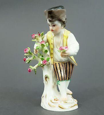 Meissen Figur, Gärtnerkind mit Rosenstrauch, Modell-Nr. 60349