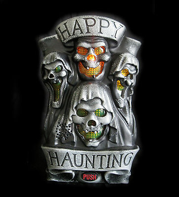 Haunted Ghost Greeter Hanging Doorbell Lighted Halloween Party Decoration