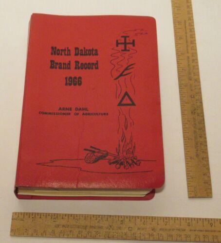 1966 North Dakota BRAND RECORD - Arne Dahl, Commissioner of Ag. - listing 2
