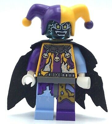 LEGO JESTRO ELECTRIFIED MINIFIGURE NEXO KNIGHTS RARE FIG WITH CAPE AUTHENTIC