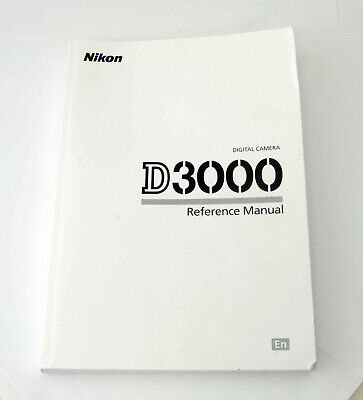 Used, Nikon Digital Camera D3000 English User's Instruction Manual Booklet for sale  Shipping to India