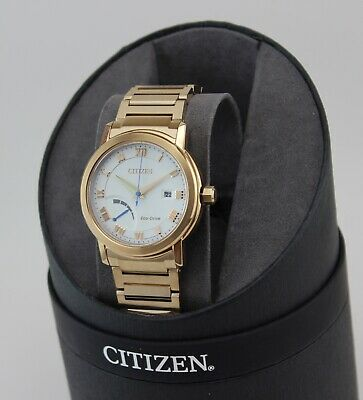 NEW AUTHENTIC CITIZEN ECO DRIVE ROSE GOLD WHITE AW7023-52A MEN'S WATCH