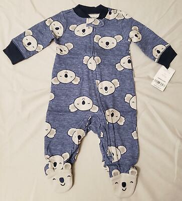 Carter's Unisex Baby L/S Koala Pattern Footsie One Piece DD5 Blue Size 3M NWT