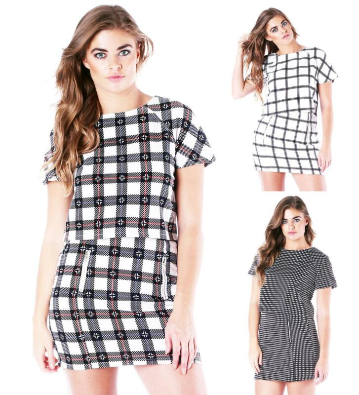 A plaid dress overlaid with white snowmen or snowflakes is a fun and festive choice for winter wear. A cotton shirtdress with a straight waist and long sleeves can be cinched with a belt and worn while running errands or lounging at home.