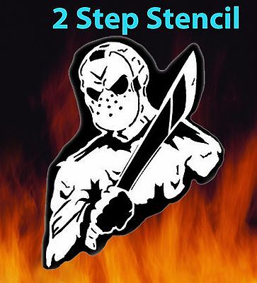 Jason Friday the 13th Airbrush Stencil Multi Layer Spray Vision Best (The Best Paint Sprayer)