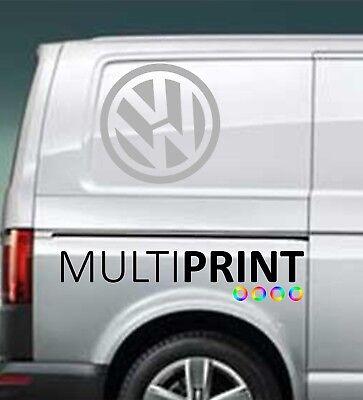 2 x VW Transporter Graphics Volkswagen Camper Van Decals Stickers T4 T5 VW2