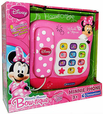 Disney Minnie Mouse Interactive Toy Phone - Sounds - Lights -Games Telephone New