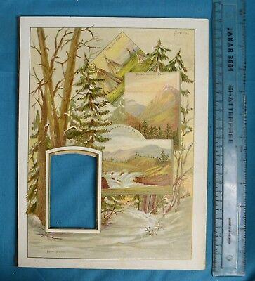Antique Victorian Colour Printed Album Photo Mount Canada Kickinghorse Indian usato  Spedire a Italy