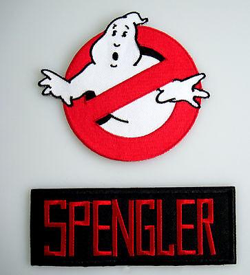 Ghostbusters - No Ghost + SPENGLER (Klett)- Uniform Kostüm Patch - Aufnäher Set - Ghostbusters Ghost Kostüm