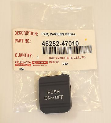 TOYOTA OEM FACTORY PARKING BRAKE PEDAL PAD 2010-2015 PRIUS (Oem Pedal)