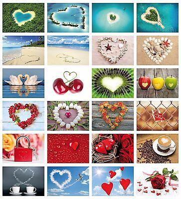LOVE-CARDS: 24-er Postkarten Set LIEBE mit Herzen für Hochzeit, Hochzeitsspiel