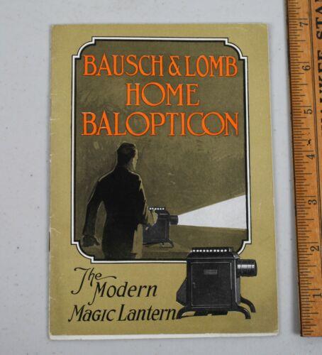 Vintage 1922 Bausch & Lomb Home Balopticon Magic Lantern Projector Manual