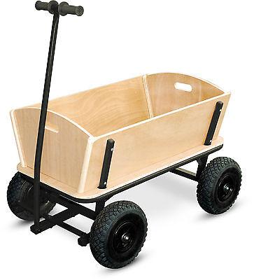 Bollerwagen XXL aus Holz belastbar bis 80 kg sehr stabil ca.110 x 61 x 57 cm Neu