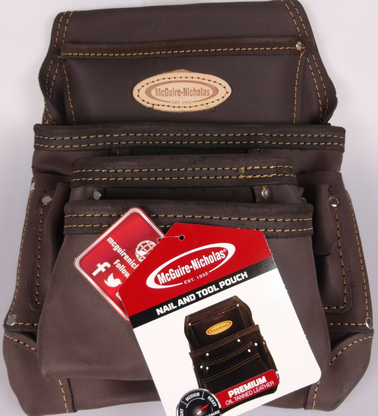 McGuire-Nicholas 870-CC 10 Pocket Nail and Tool Pouch Oil Ta