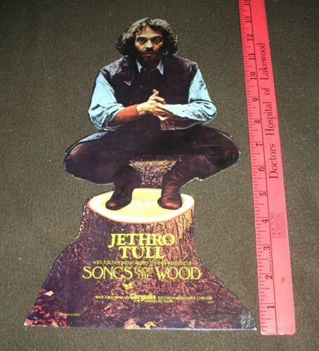 """JETHRO TULL Songs From The Wood Promo Poster 13"""" Counter Display Mint- 1977"""