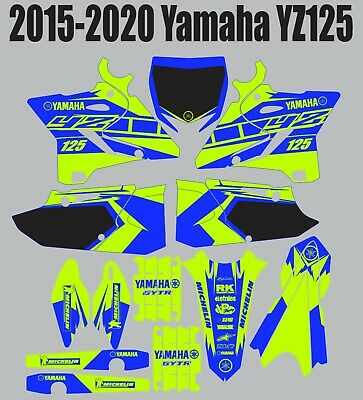 Decals for YAMAHA GRAPHICS Sticker YZ 125 YZ125 2015-2020 Bright Green