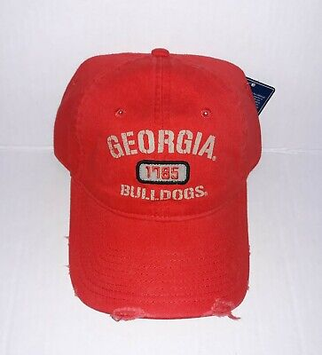 Georgia Bulldogs Buckle - University of Georgia Bulldogs Adjustable buckle Distressed Cap