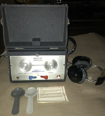 Vintage Ambco 1122-f Diagnostic Audiometer Portable Ear Hearing Tester Works