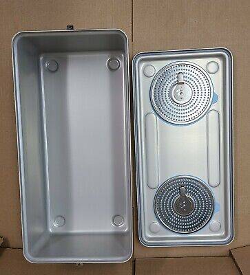 Case Medical Steritite Solid Sterilization Container With Lid 23.5 X11 X 8 Sc08f