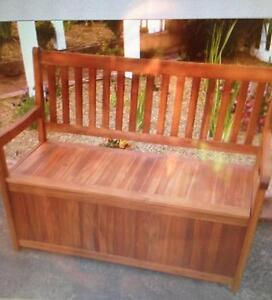 NEW HARDWOOD OUT DOOR BENCH SEAT WITH STORAGE . Liverpool Liverpool Area Preview