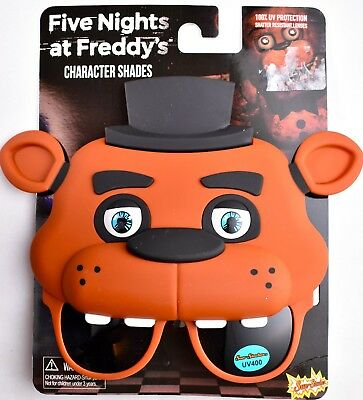 FIVE NIGHTS AT FREDDY'S Fazbear Character Shades Sun-Staches Sunglasses SG2592 - Simpsons Halloween Characters