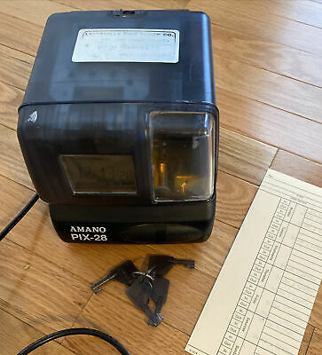 Amano Pix-28 Timeclock - Pre Owned Time Clock With Keys