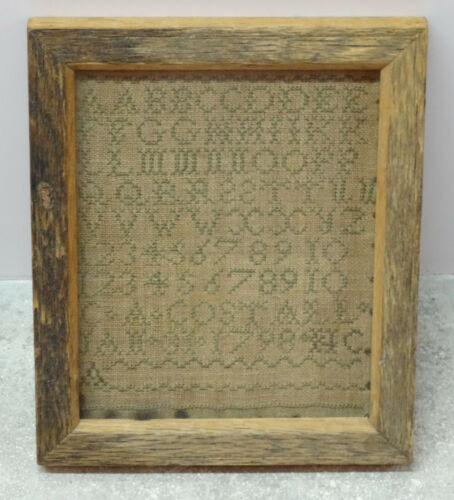 ANTIQUE 1798 EMBROIDERY NEEDLEWORK SAMPLER