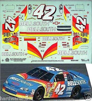 NASCAR DECAL #42 BELLSOUTH 1999 MONTE CARLO  JOE NEMECHEK SLIXX
