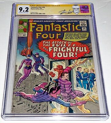 Fantastic Four #36 CGC SS 9.2 Signature Autograph STAN LEE 1st Frightful Four 🔥
