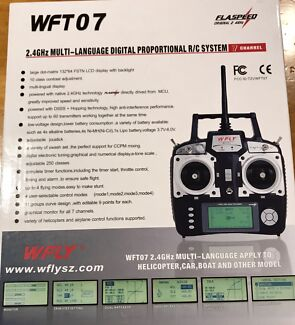 WFT 07  Mode 2 Digital Transmitter & 2  - 7ch Receivers and 1- 4ch