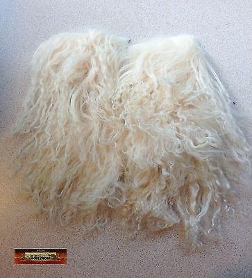 M00760 MOREZMORE Tibetan Lamb Remnants ECRU BABY BLONDE Doll Baby Hair Wig NSS