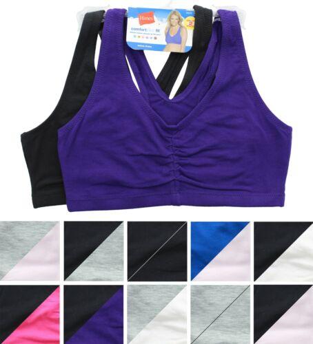 Hanes Sports Bra Comfort Flex Fit Womens Wire Free, Seamless, 2 Pack H570