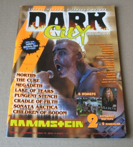 Dark City magazine heavy metal 2004 Russia Rammstein Megadeth The Cure etc