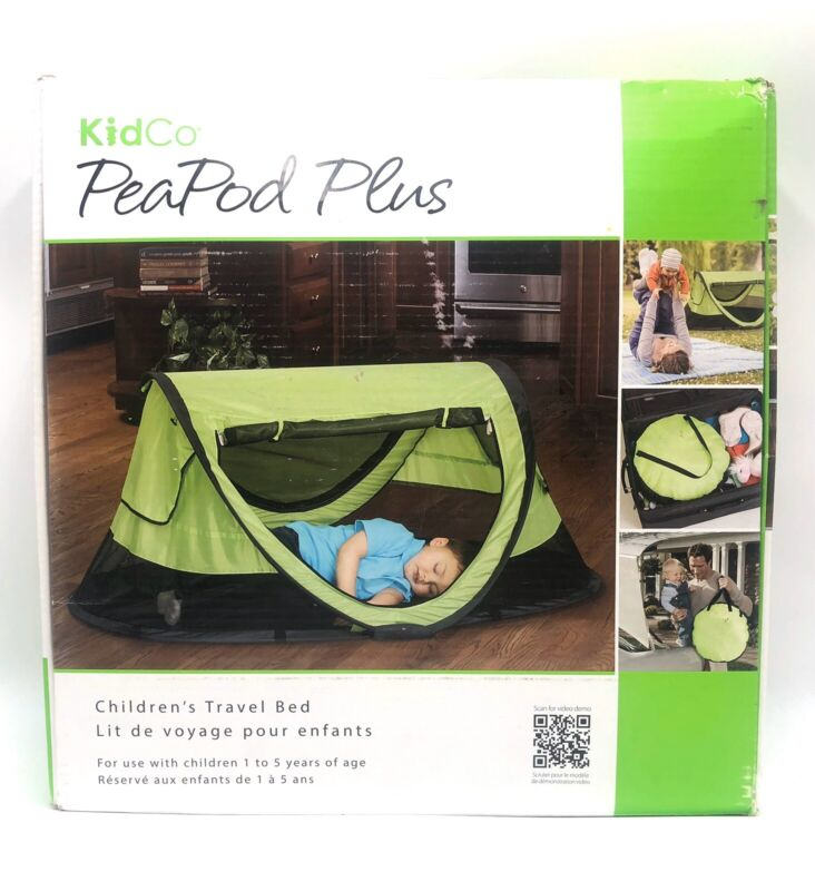"""NEW - KIDCO Peapod Plus Travel Play Bed Tent Color: Kiwi 52"""" x 34"""" EXTRA LARGE"""