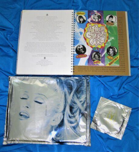 MADONNA SEX BOOK w/ PROMO (SEALED) CD & DITA COMIC US 1992 1st Print  Erotica