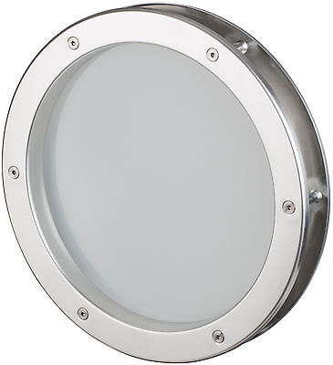 Bullauge 30 cm Edelstahl-Optik, VSG satiniert, sehr hochwertig, Rundfenster