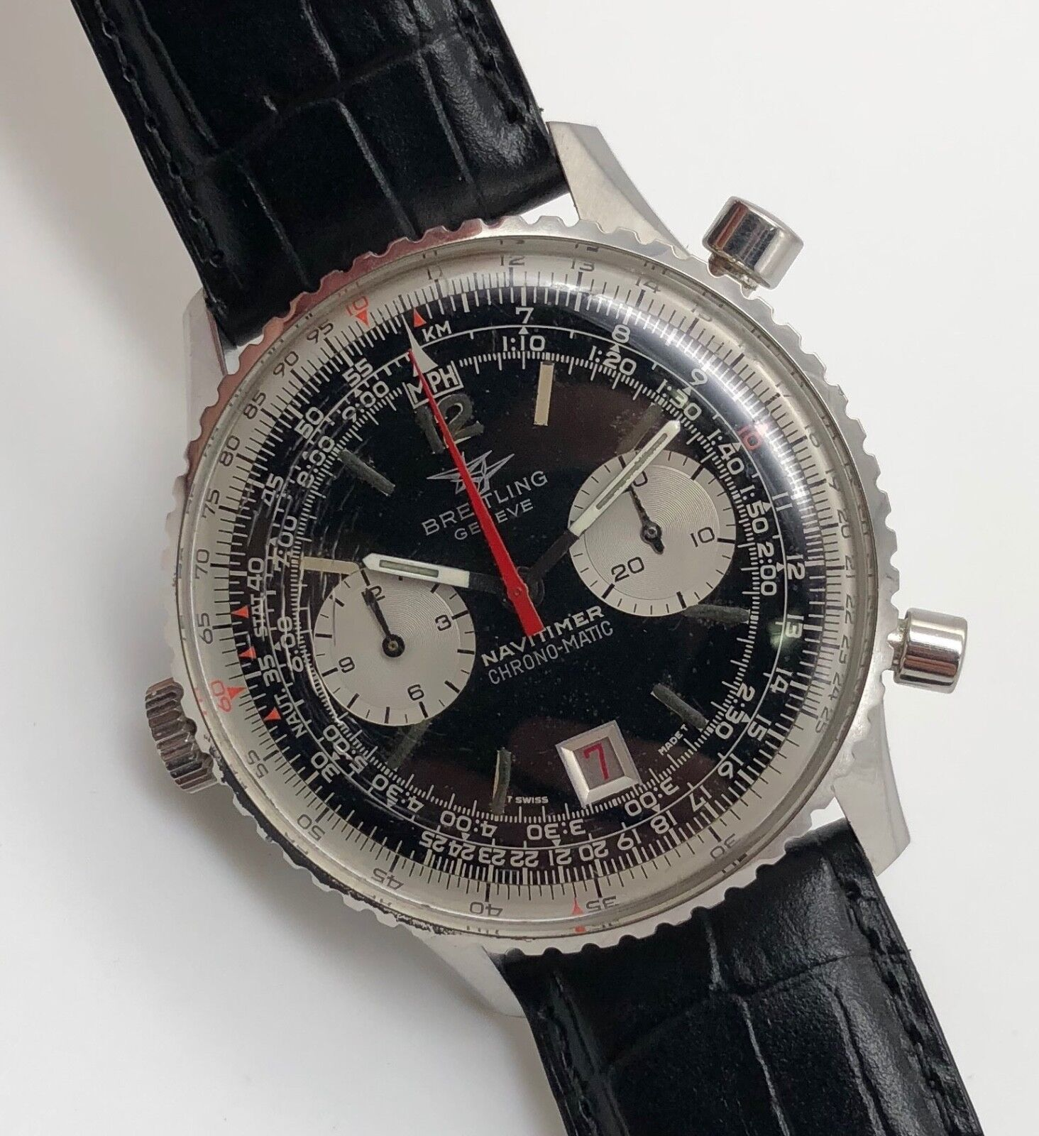 RARE VINTAGE BREITLING NAVITIMER CHRONO-MATIC CHRONOGRAPH REF. 8806 - watch picture 1