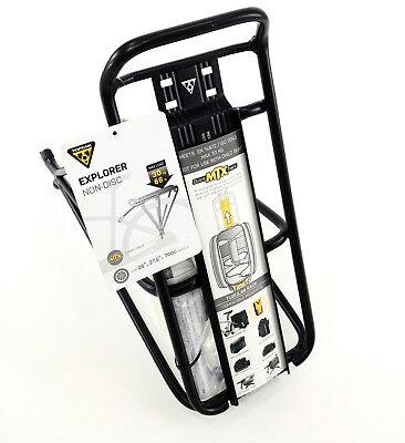 Topeak TT9648B MTX DX rigide Trunk Rack Vélo Sac quicktrack système 750ci